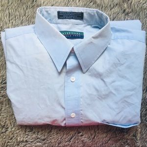 CLAYBROOKE men's wrinkle free dress shirt 16 34/35